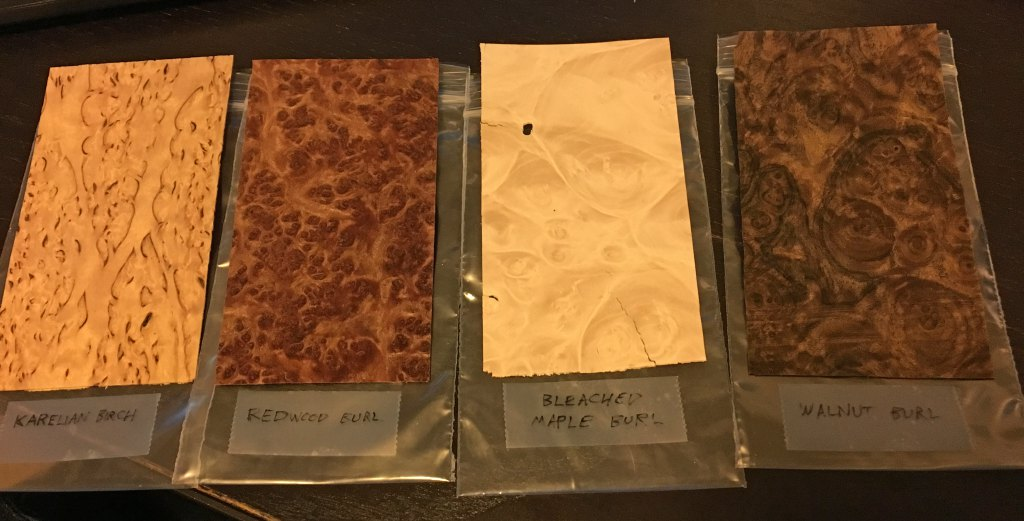 Burl samples